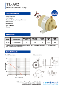 A02 Micro Brushless DC Centrifugal Pump
