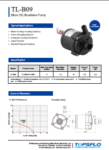 TL-B09 Brushless DC Water Pump Water Mattress Pump